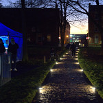 Lit up Winckley Square in Preston