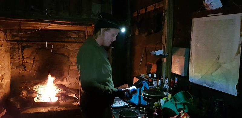 Preparing dinner at Wheelers Hut