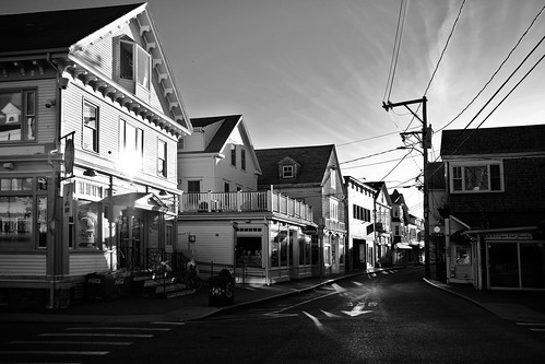 massachusetts capecod provincetown fujifilm fujifilmxt2 blackandwhite commericialstreetprovincetown sunrise sunnymorning