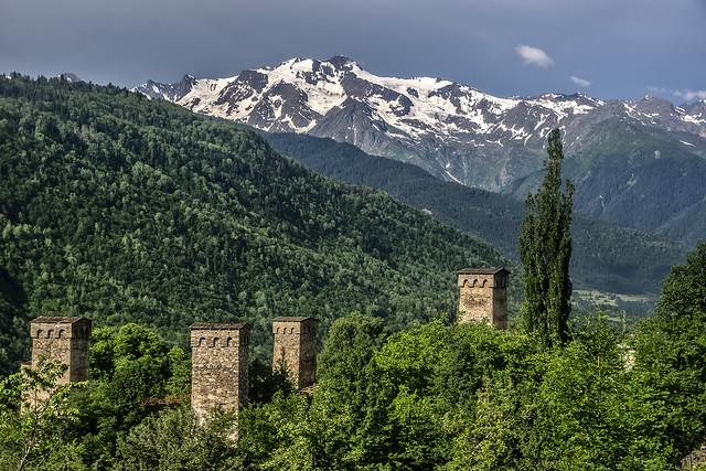 Svan towers of Mestia