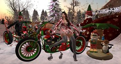 motorcycle helpers for Santa