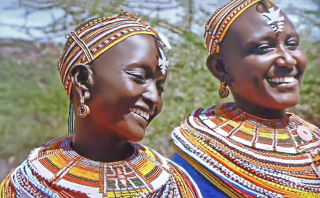 AFRICA - Pretty and smiling women from Kenya