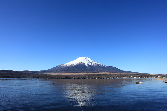 Mt.Fuji from the banks of Lake Yamanaka