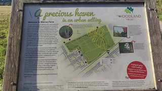 Warren Farm information board