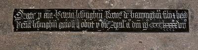Orate pro anima Henrici Lesyngham, 1497