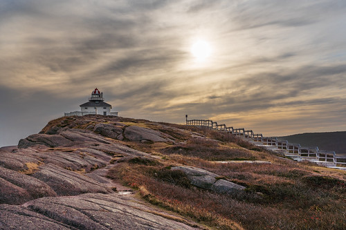 canada travel sunset cloud lighthouse building clouds fence newfoundland hill stjohns stjohn saintjohn saintjohns shawnharquail fall landscape outdoor fencefriday shawnharquailcom