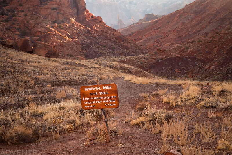 Upheaval Dome Spur Trail Sign