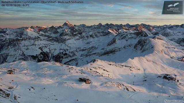 Sonne Spätnachmittag Bergpanorama 001