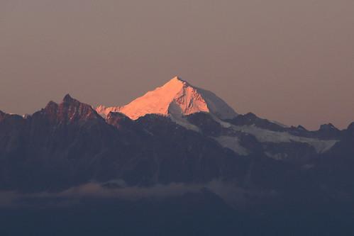 mountain glow gangchenpo sunset ngarkot kathmandu nepal himalaya himalayan himalayas