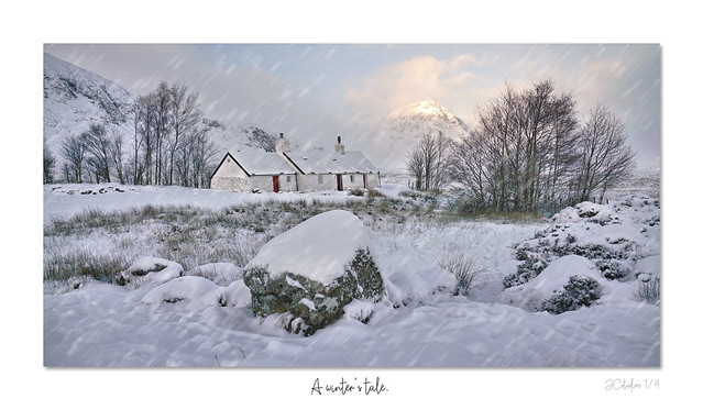 A winter's tale framed beuat with snow