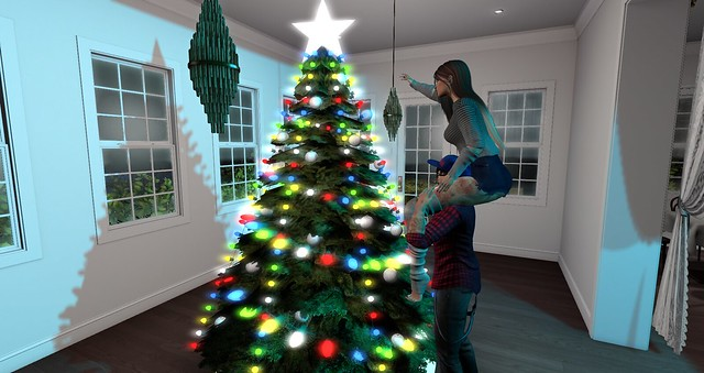 Helping my Momma with the christmas tree