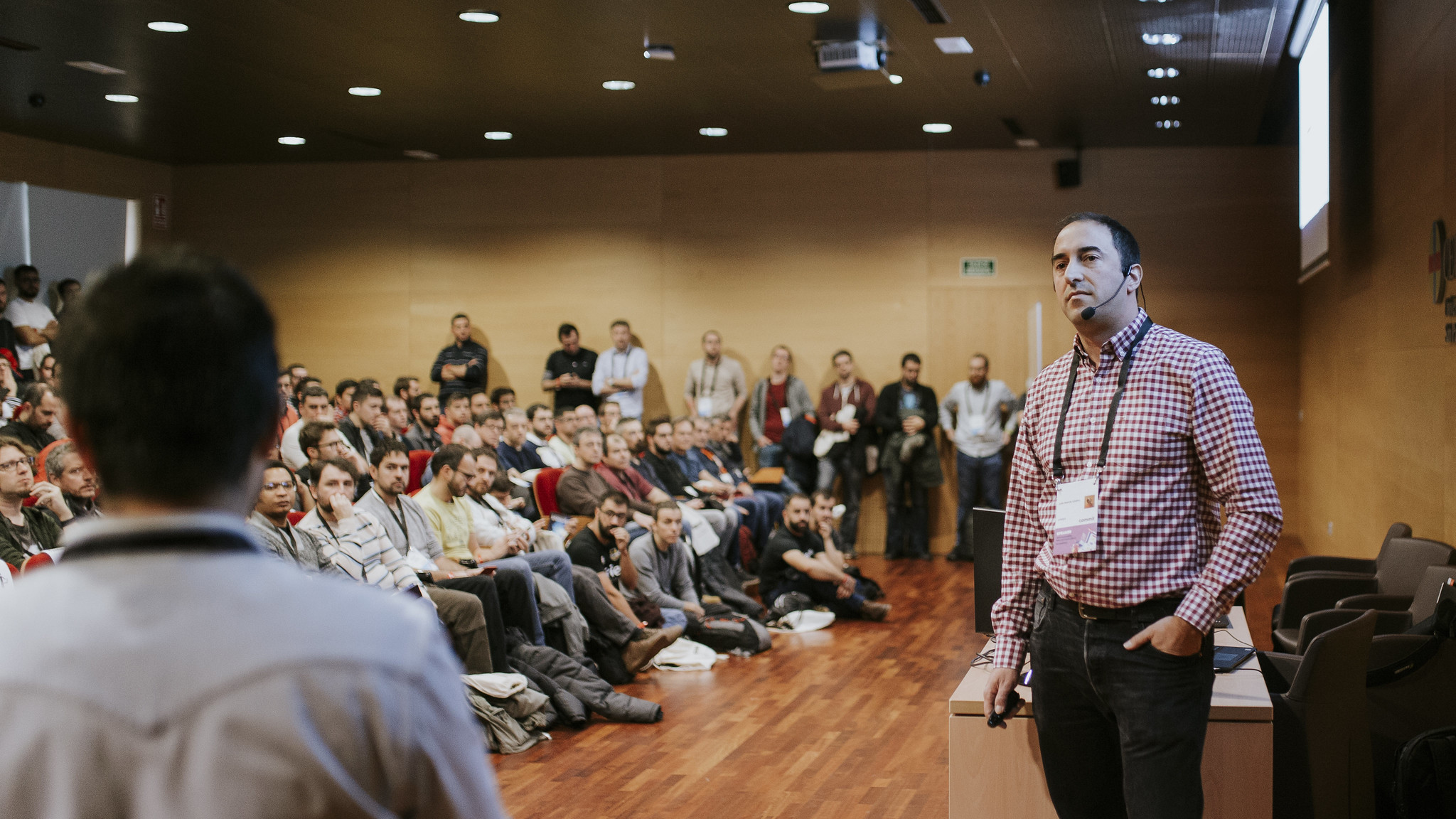 Thats me (interested in what Pablo says) at Commit Conf 2019