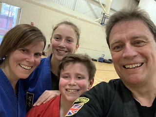 Worn out after Choi Kwang Do black belt tag grading, but feeling great. Now we have a 1st Dan orange, 2nd Dan blue and two 2nd dan brown tags (next grading for Predlet 2.0 and I is 3rd degree black belt ! | by epredator