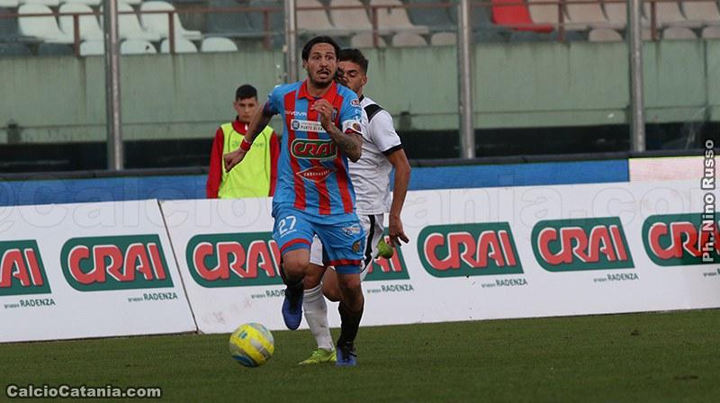 Il capitano del Catania Marco Biagianti