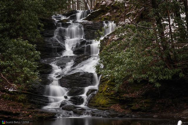 Slateford Creek Waterfalls (Closeup - Upper Falls)