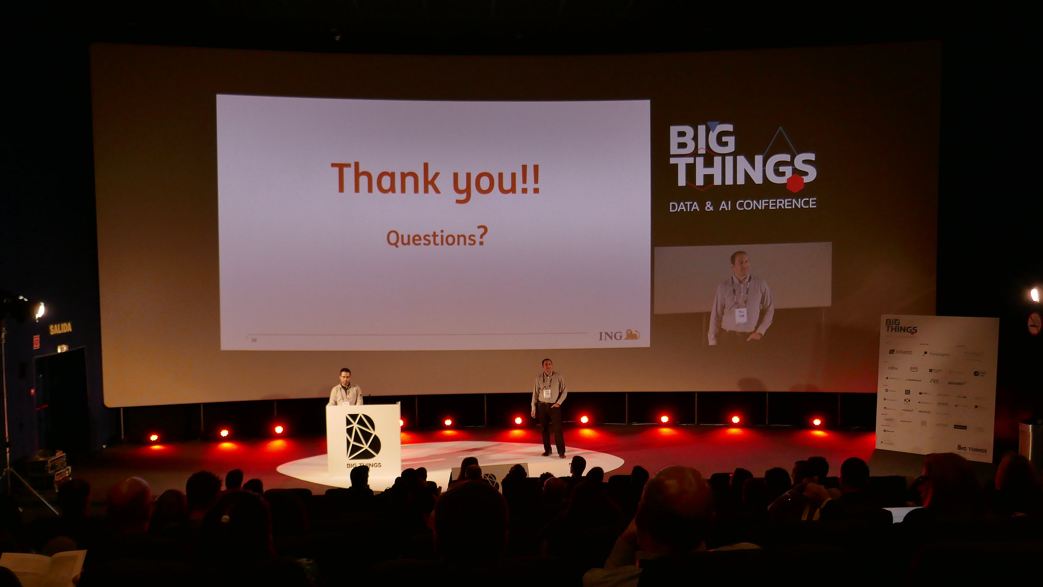Finishing our talk at Big Things Conference 2019