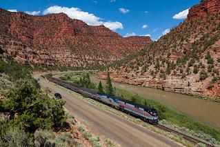 AMTK 130 at Red Canyon, Colorado