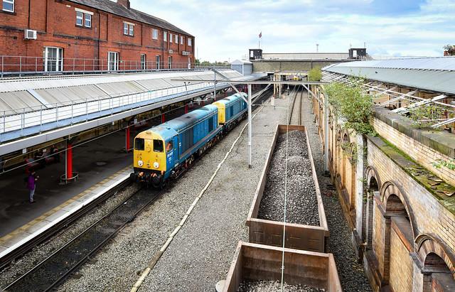 20107 and 20096 running around at Crewe