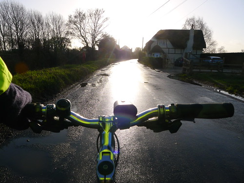 Cycling Into WInter Sunlight