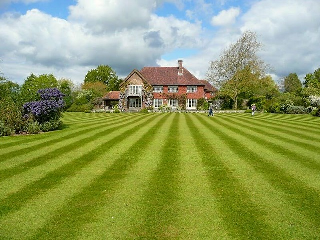 The lawn at Banks Farm