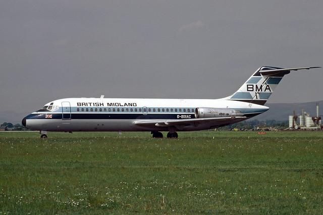 G-BMAC Douglas DC9-15 EGPF 1985