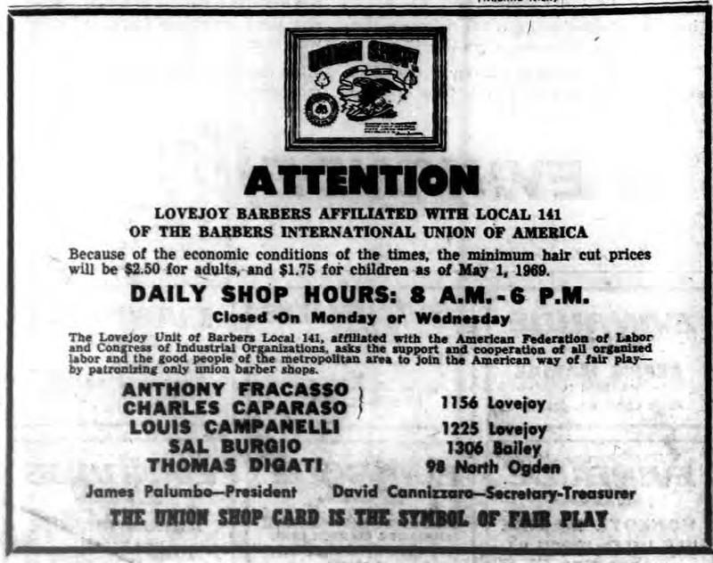 Barver Union Lovejoy Buffalo 1969