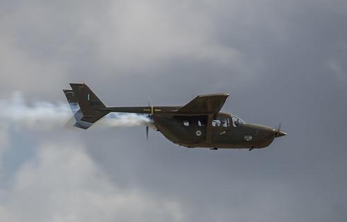 Cessna O-2 Trailing Smoke