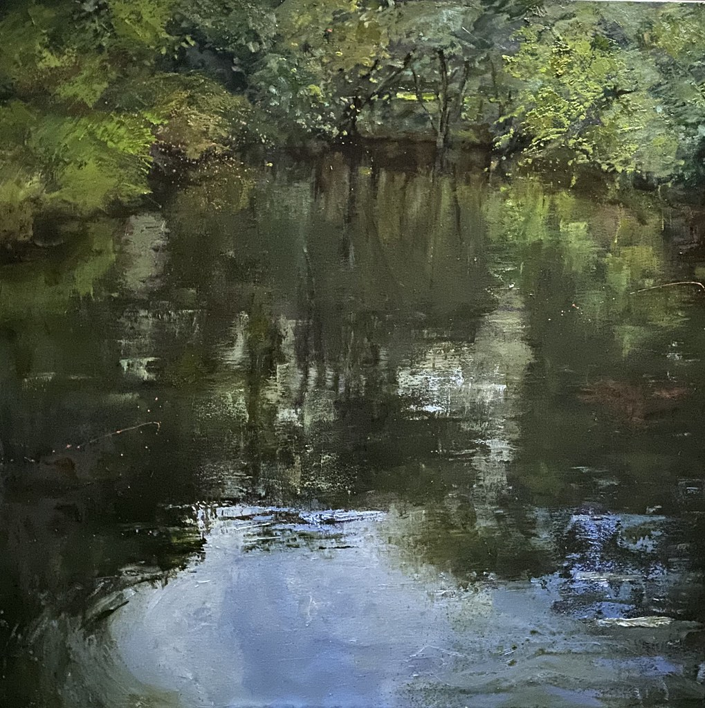 Reflecting II - Oil on Canvas - 100 x 100 cm - sold