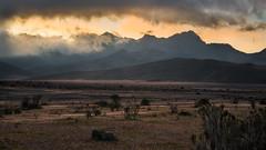 Stormy Ruminahui sunset