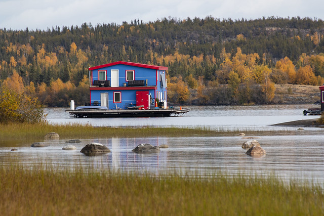 Houseboat, Yellowknife, Great Slave Lake, NWT