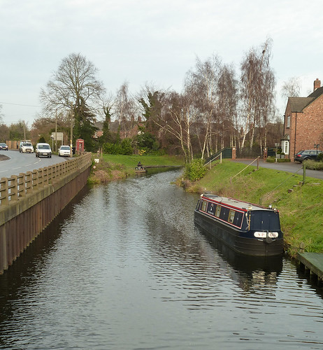 Canal with narrow boat
