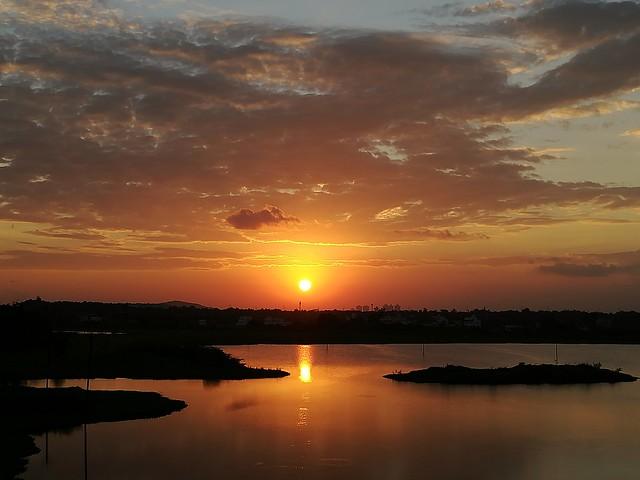 Sunset at Guduvancherry Lake