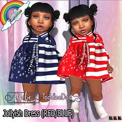 ((RBS)) Jollyish Dress (RED & BLUE)