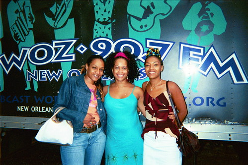 Vocalists in front of the WWOZ truck. Photo courtesy of Samirah Evans.
