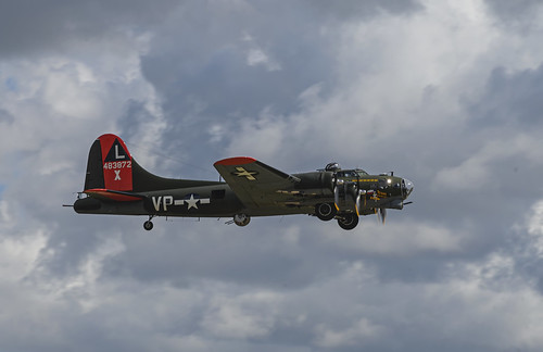 B-17G Among the Clouds