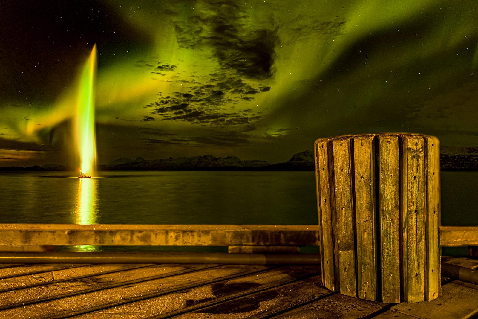 Selsbanes seil and Aurora