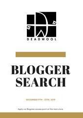 [Deadwool] Blogger Search 2020