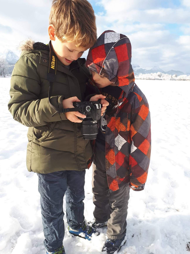 New photographer are coming. My 2 littlest boys with my old camera