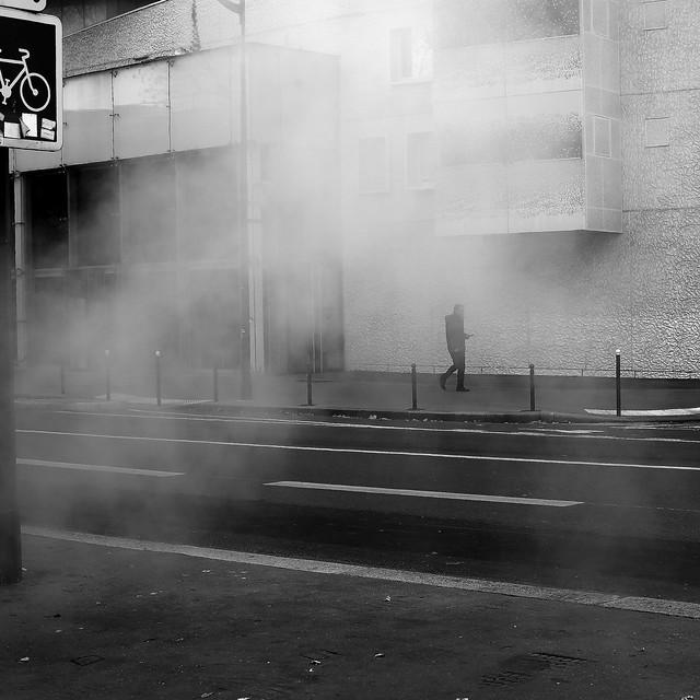 In smoke