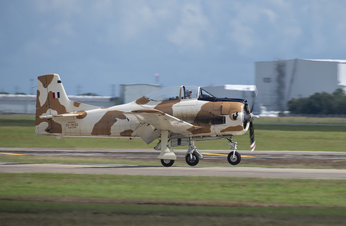 T-28 Fennec Touching Down