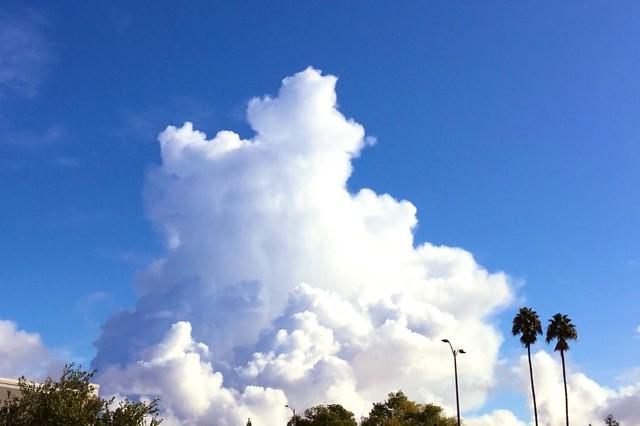 Rising clouds