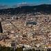 Vista desde el Teleferico de Montjuit de Barcelona, Cataluña, España.
