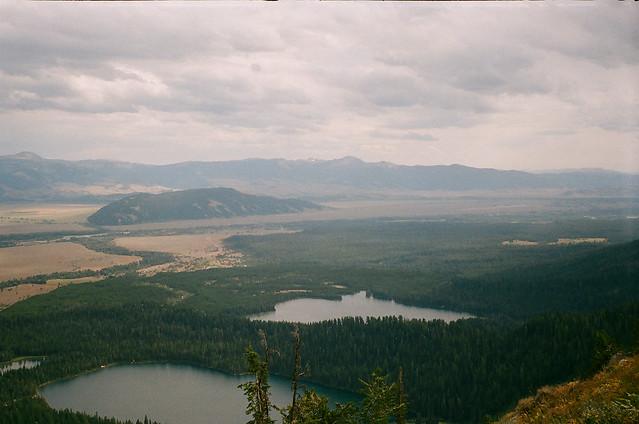 view over Bradley Lake and Taggart Lake