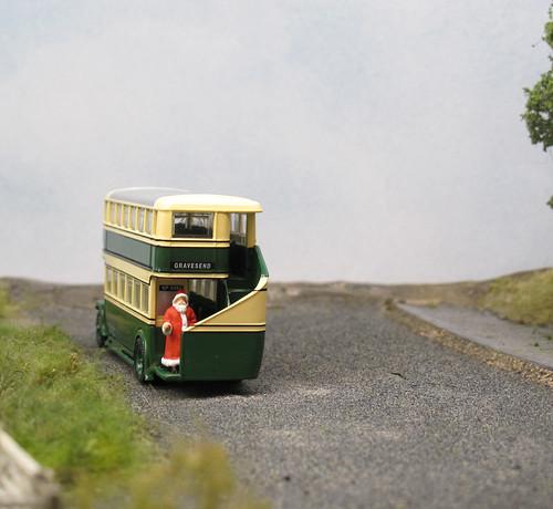 Santa on a bus