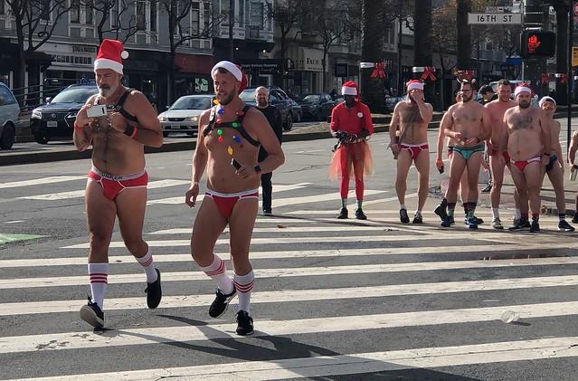 SF Santa Skivvies Run 2019