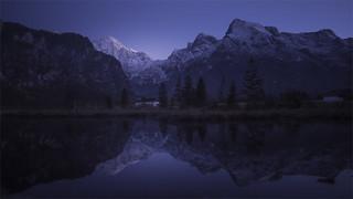 _DSC4292 Blue hour at the lake Almsee / Upper-Austria