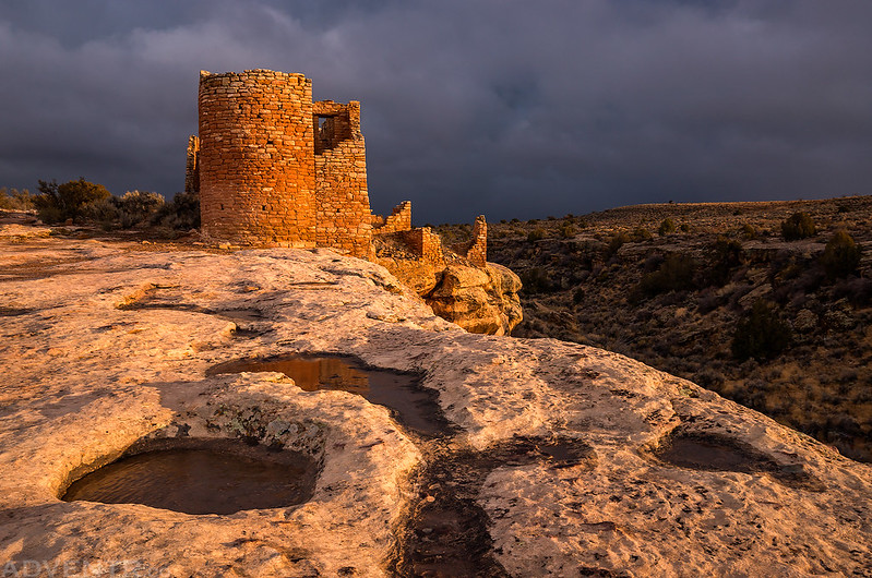 Hovenweep Castle Sunset