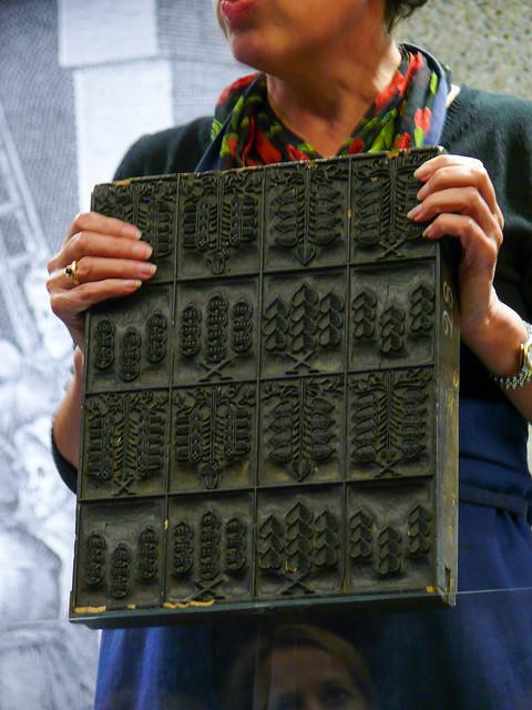 Mainz - Probedruck an der Druckerpresse von Johannes Gutenberg