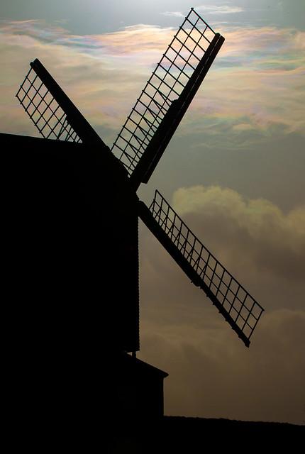 Brill Windmill, wierd sky