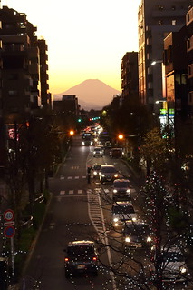 A Town where Mt.Fuji can be seen